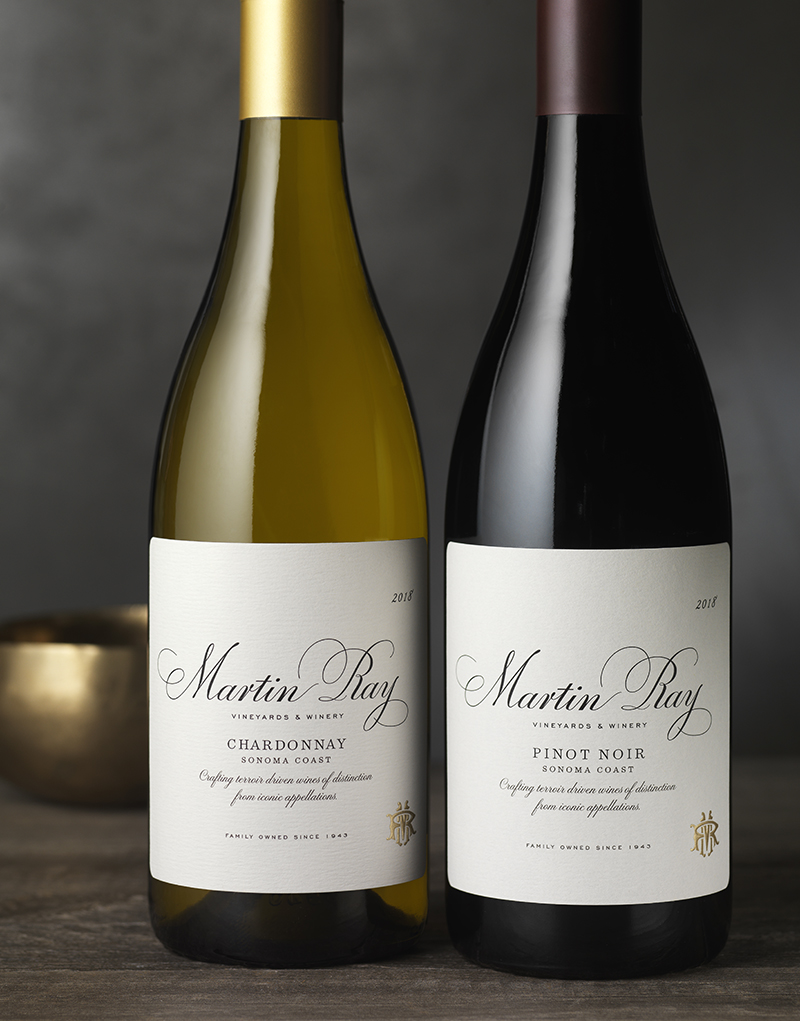 Martin Ray Vineyards & Winery Packaging Design & Logo