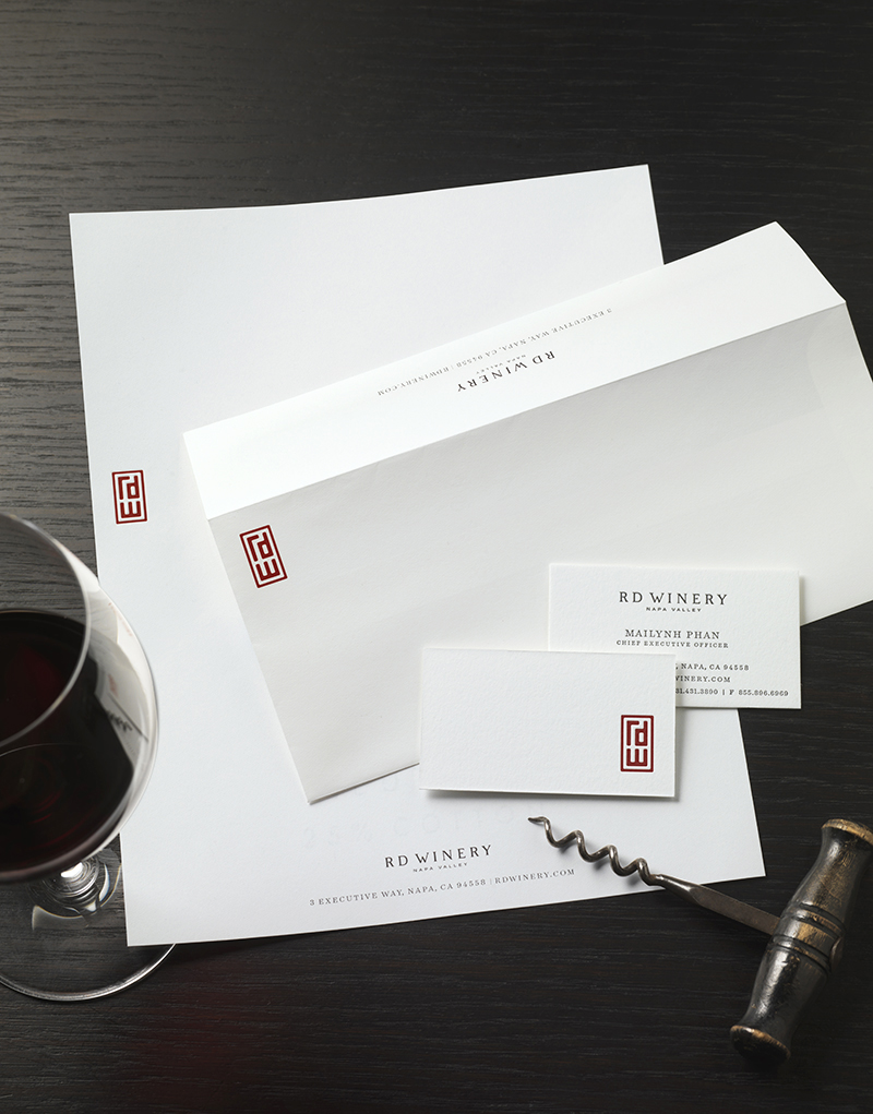 RD Winery Stationery Design