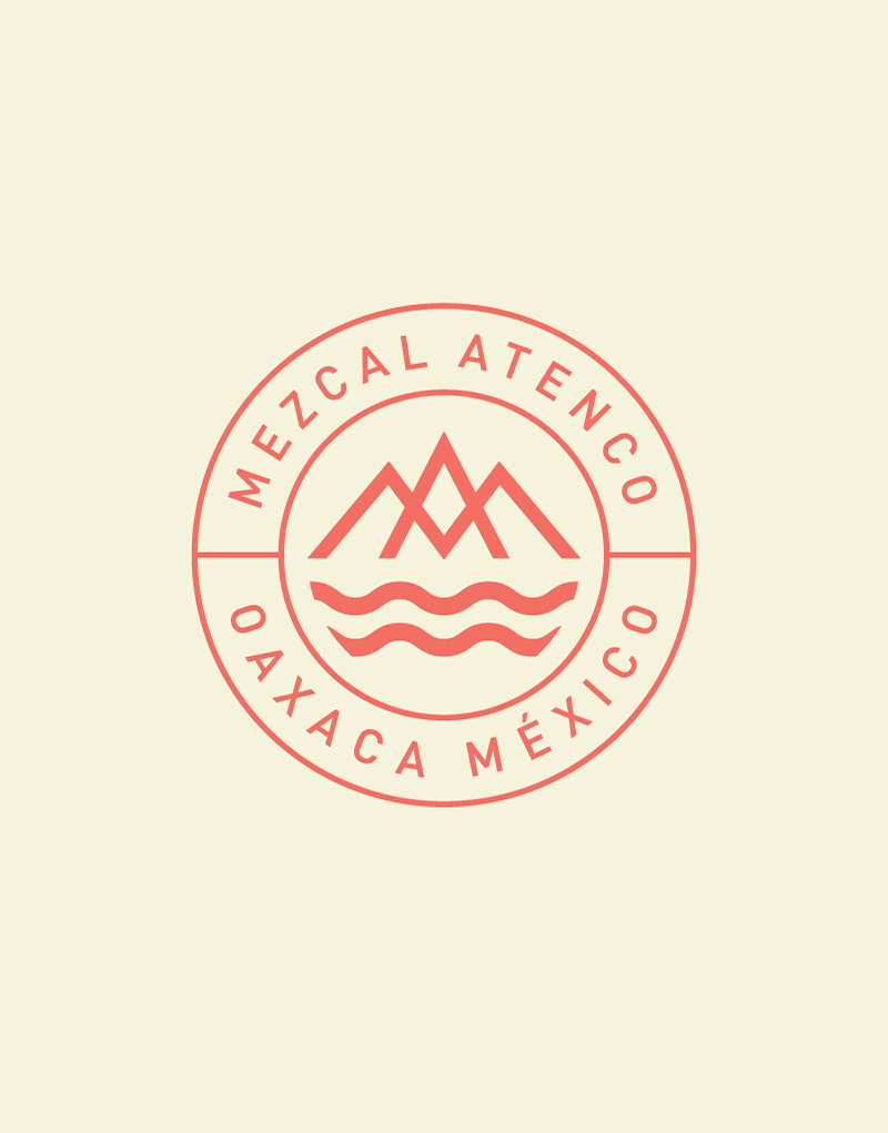 Mezcal Atenco Seal Logo Design