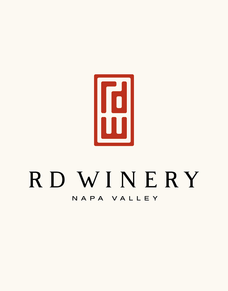 RD Winery Logo Design with Cream Background