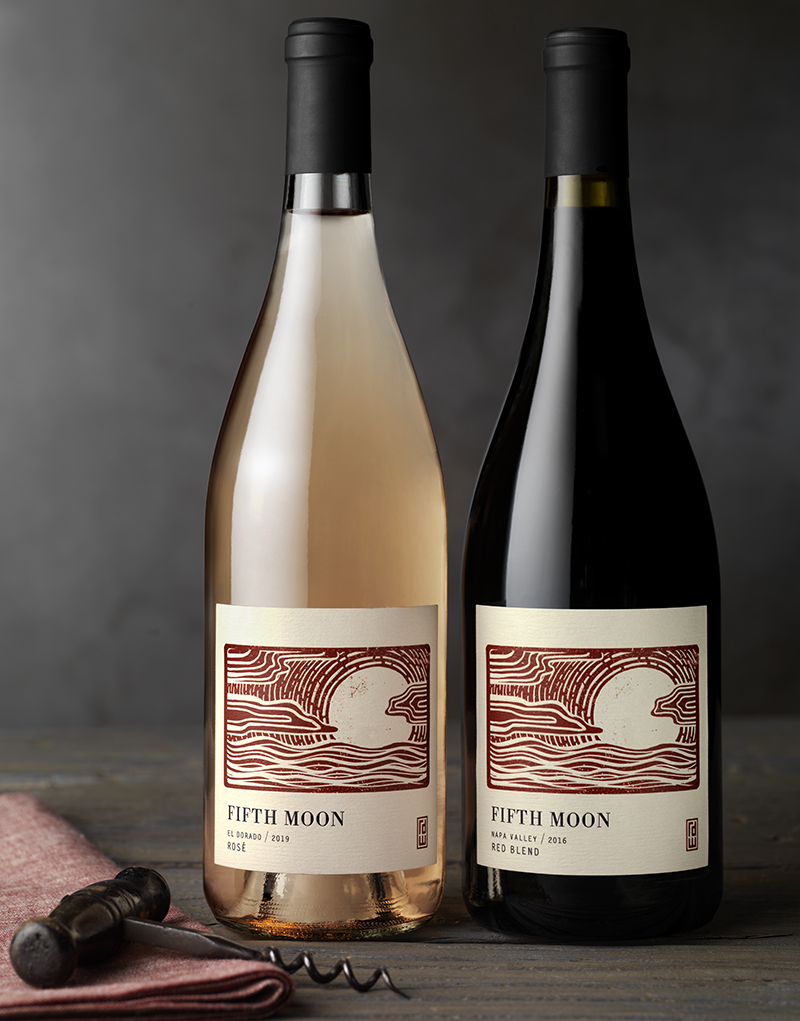 Fifth Moon Wine Packaging Design & Logo