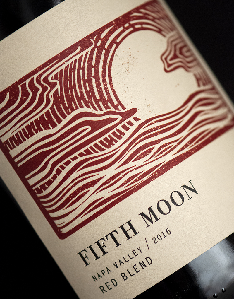 Fifth Moon Wine Packaging Design & Logo Label Detail