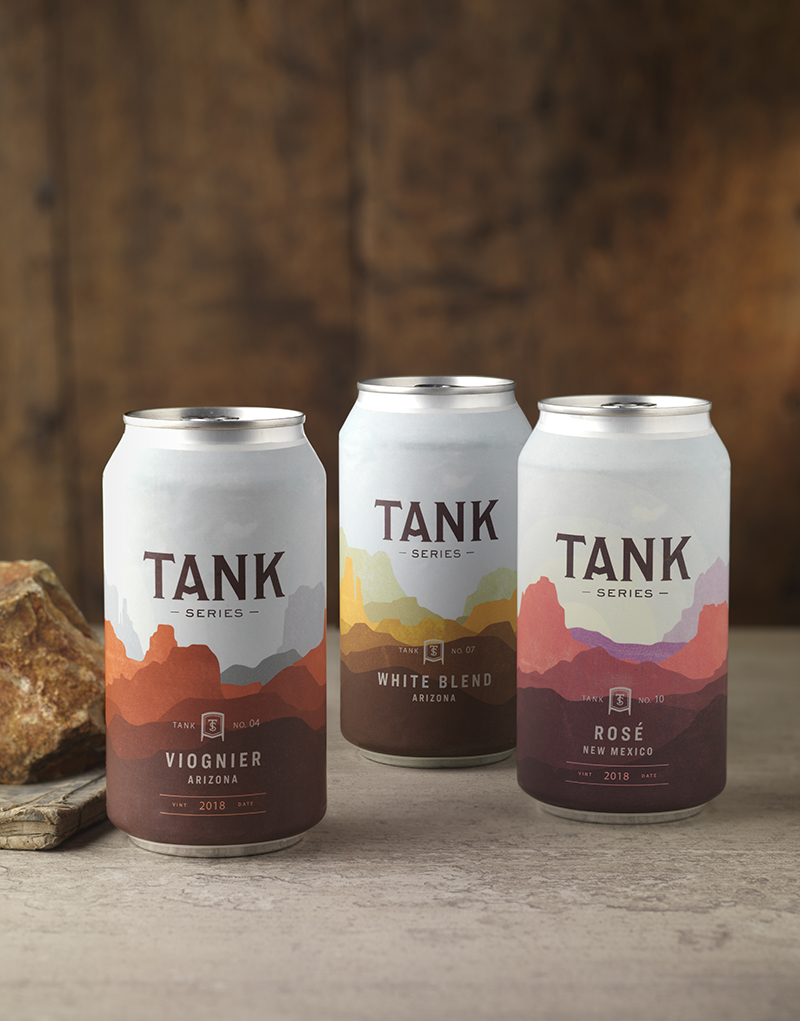 Tank Series Wine Can Packaging Design & Logo