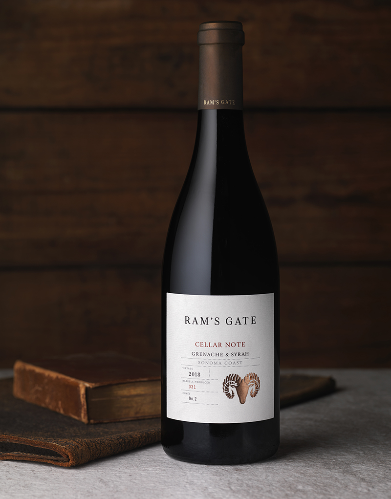 Ram's Gate Cellar Note Grenache & Syrah Wine Packaging Design & Logo