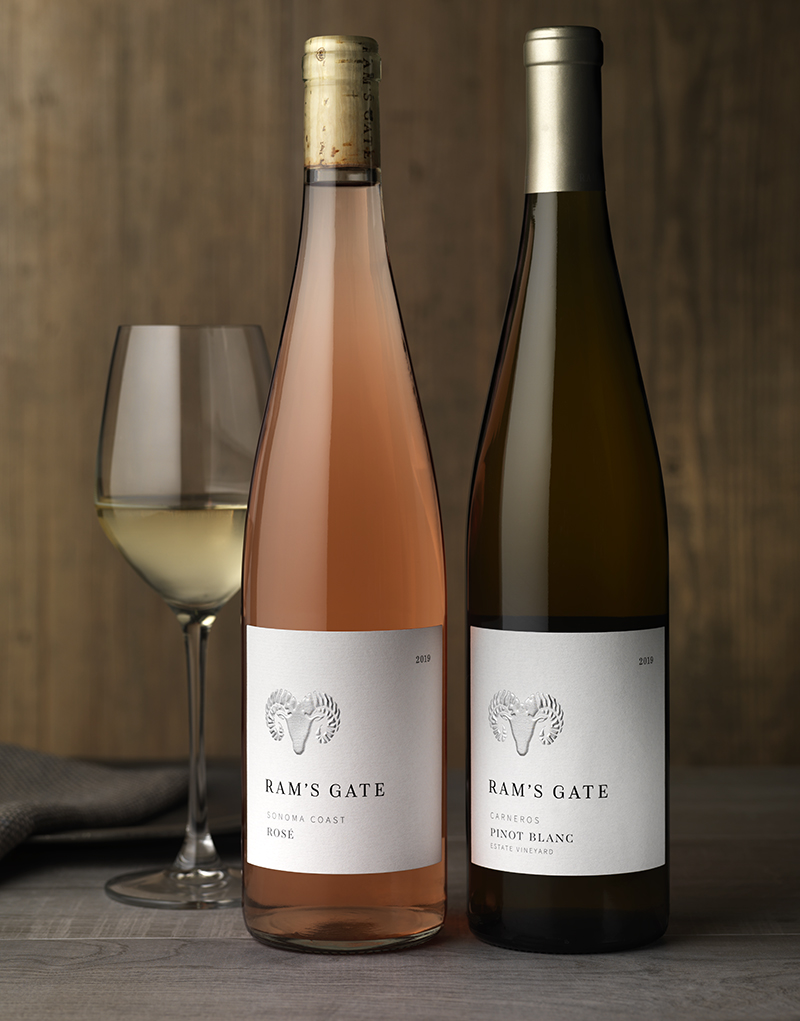 Ram's Gate Core Tier Rosé & Pinot Blanc Wine Packaging Design & Logo
