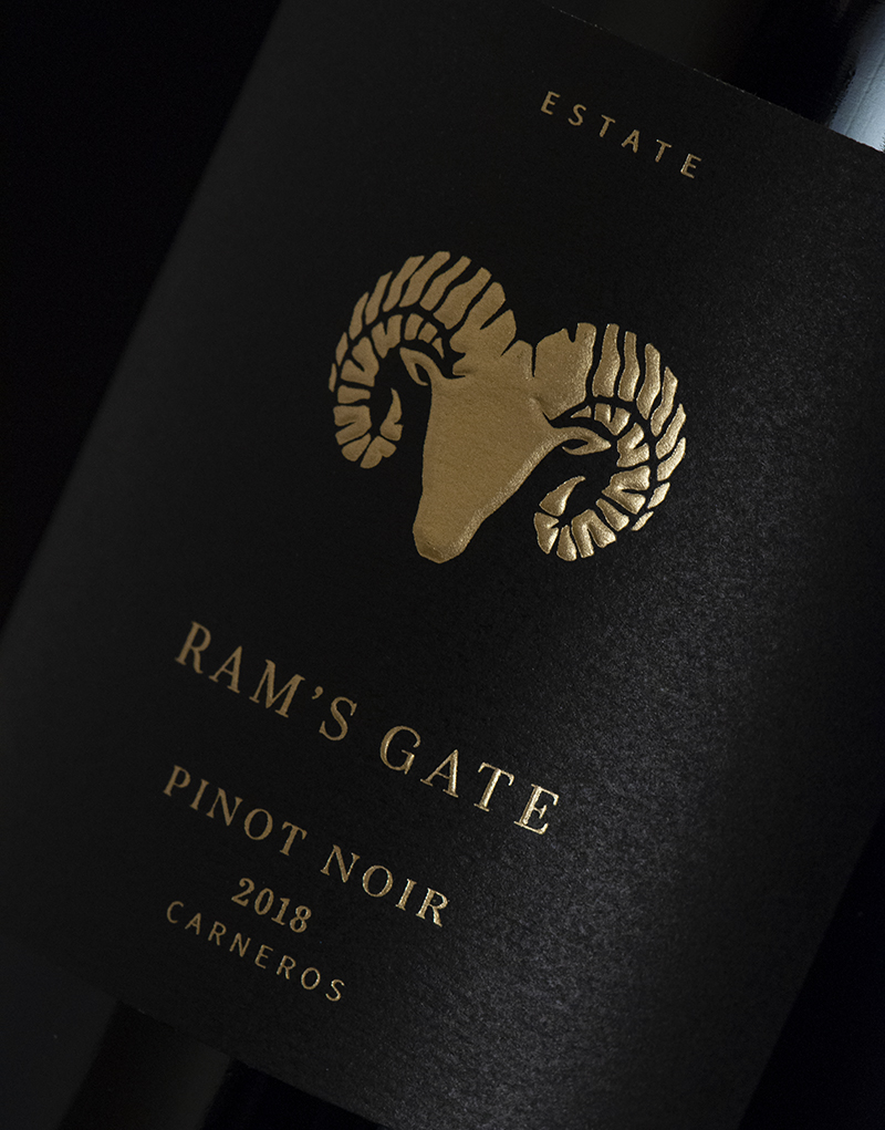 Ram's Gate Estate Tier Packaging Design & Logo Label Detail