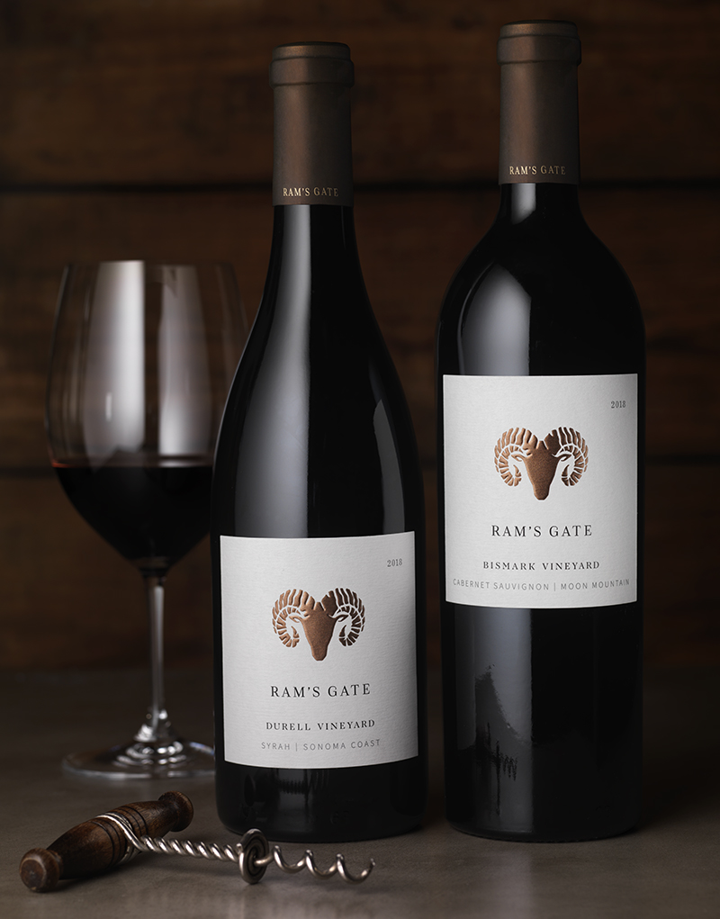 Ram's Gate Single Vineyard Syrah & Cabernet Sauvignon Wine Packaging Design & Logo