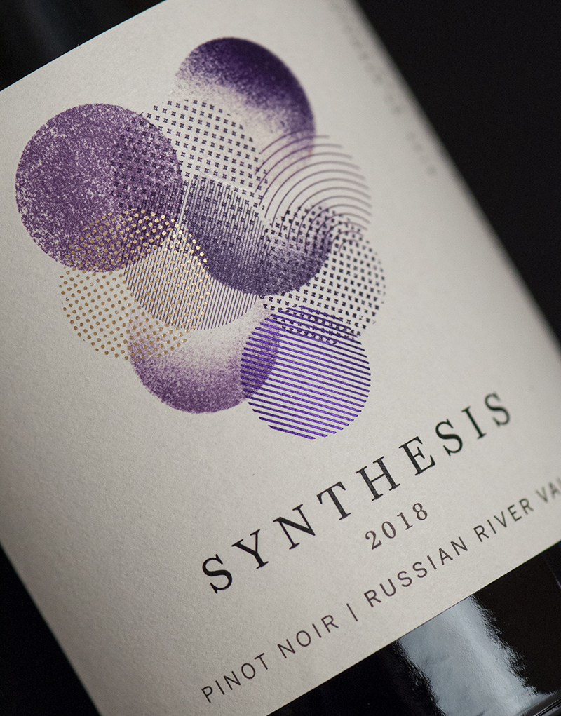 Synthesis Wine Packaging Design & Logo Label Detail