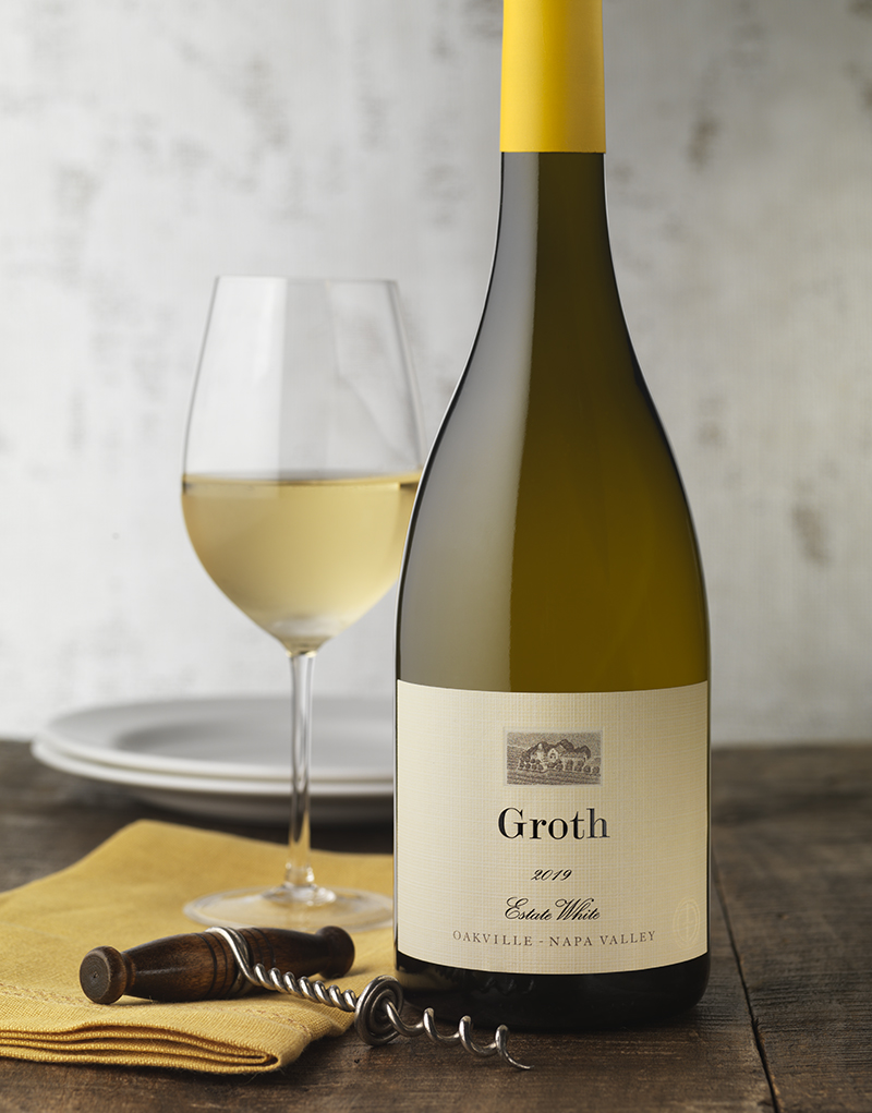 Groth Vineyards & Winery Estate White Wine Packaging Design & Logo
