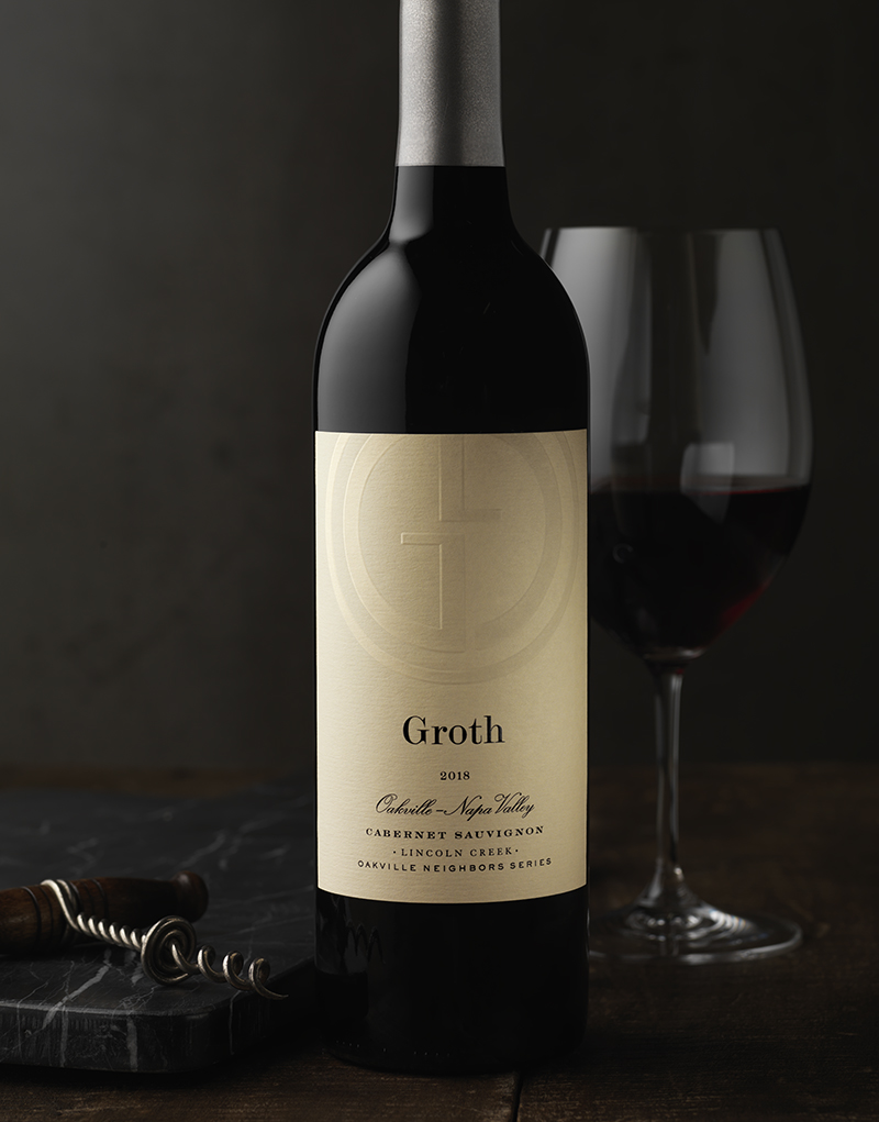 Groth Vineyards & Winery Neighbors Cabernet Sauvignon Wine Packaging Design & Logo