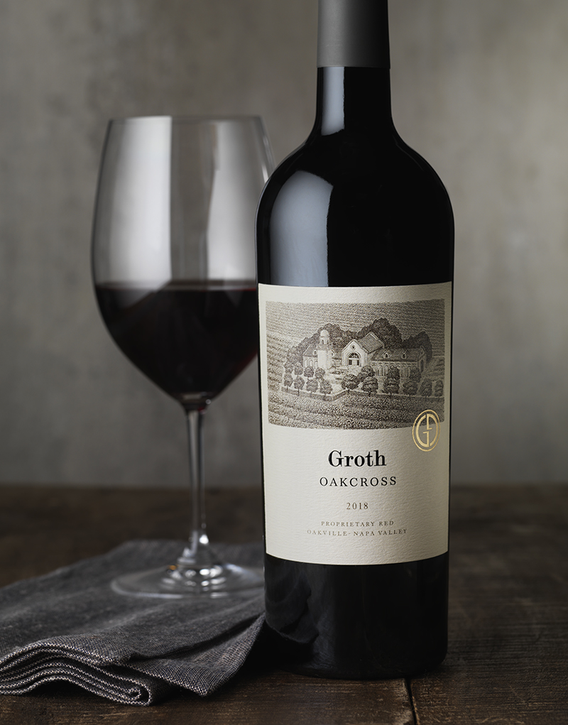 Groth Vineyards & Winery Oakcross Wine Packaging Design & Logo
