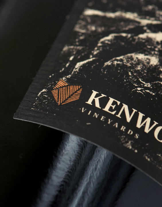 Kenwood Rugged Elements Knights Valley Cabernet Sauvignon Logo Label Detail
