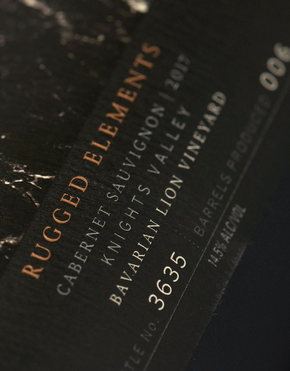 Kenwood Rugged Elements Knights Valley Cabernet Sauvignon Wine Info Label Detail