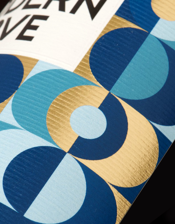 Modern Love Gin Packaging Design & Logo Label Detail