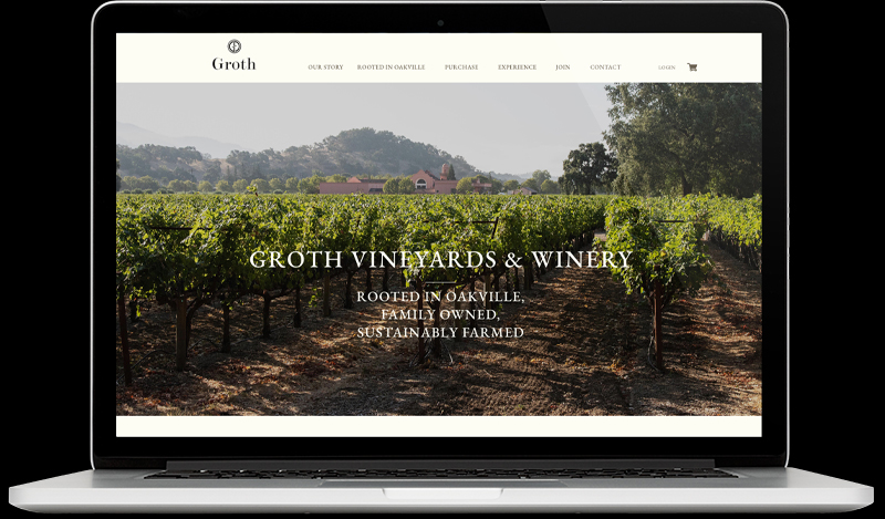 Groth Website Homepage Design