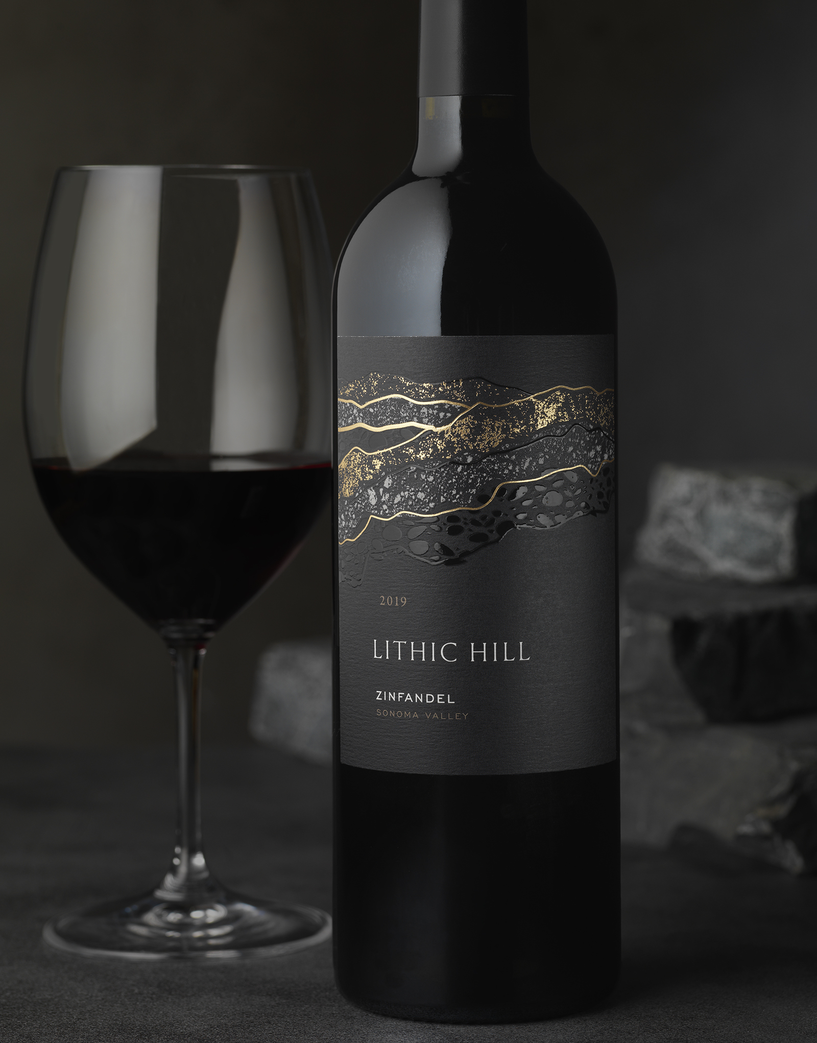 Lithic Hill Wine Packaging Design & Logo