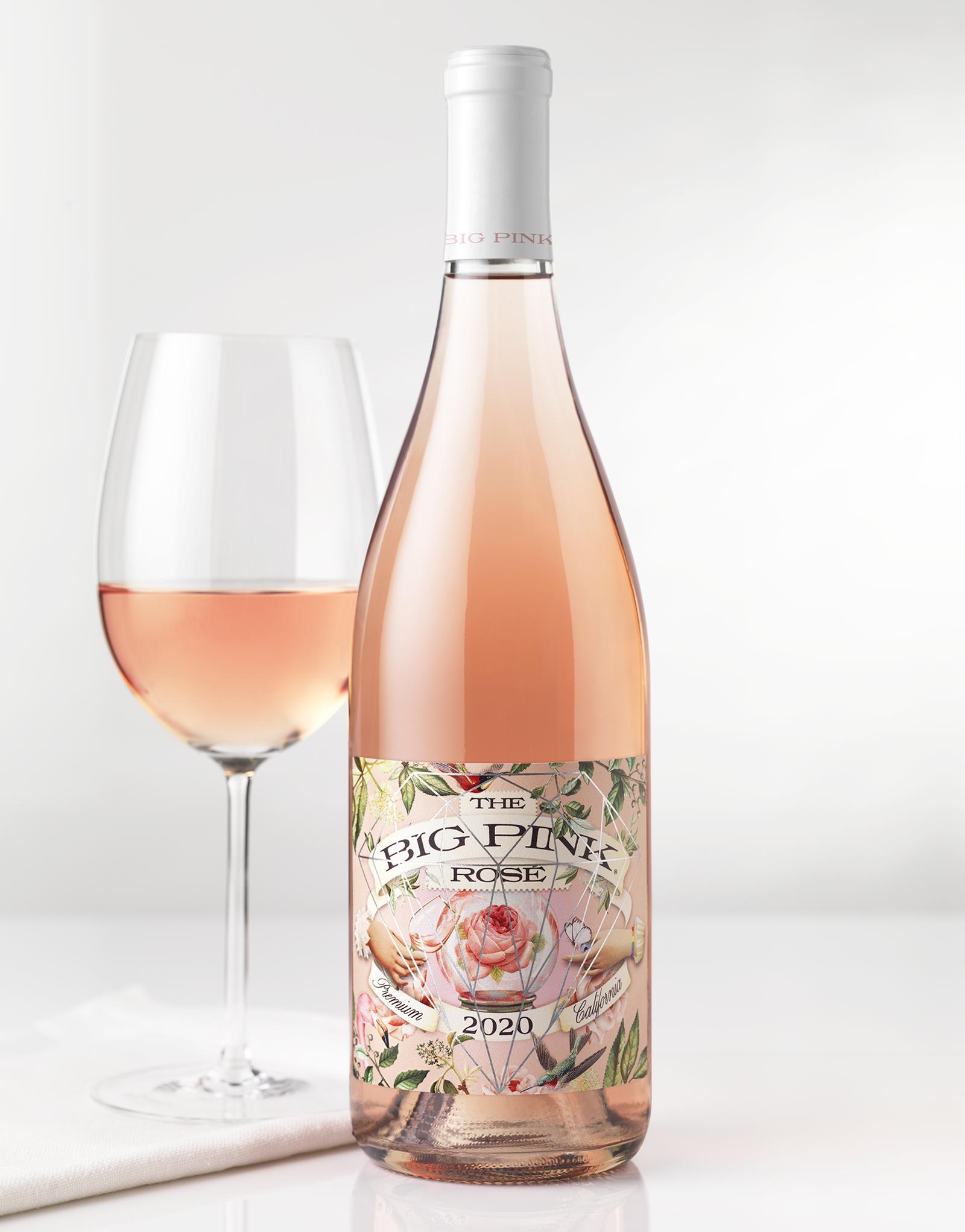 The Big Pink Rosé Wine Packaging Design & Logo